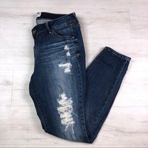 Torrid Distressed Skinny Jeans, 16